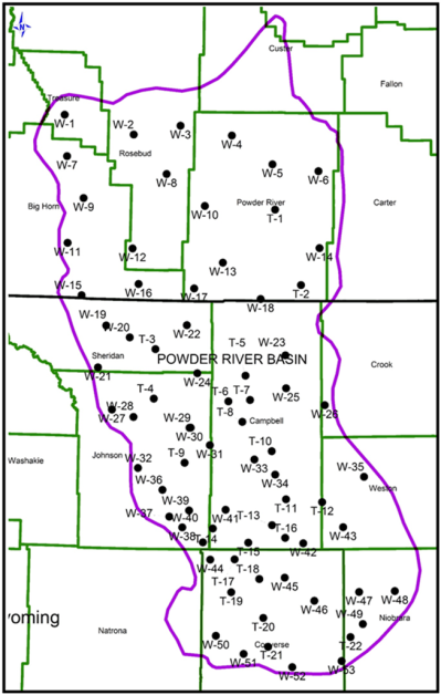 Map of Powder River Basin